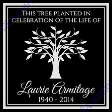 Personalized Tree Planting Dedication Ceremony Memorial Granite Marker Plaque