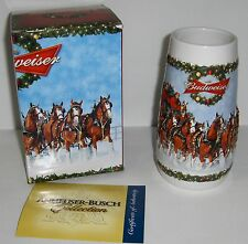 2009 BUDWEISER CHRISTMAS STEIN - HOLIDAY BEER MUG - FREE SHIPPING!!!