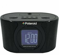 Polaroid IPB-117 Alarm Clock Radio AM/FM w/ 30 Pin iPhone / iPod Docking Station