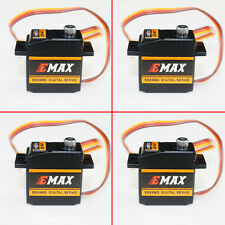 4 x EMAX ES09MD Metal Gear Digital Swash Servo Metal Gear For 450 RC Helicopter