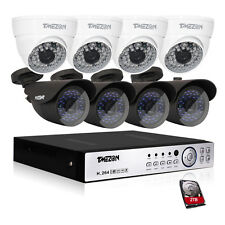 Tmezon 16 Channel AHD 1080P 2MP DVR Outdoor CCTV Security System 2TB Hard Drive