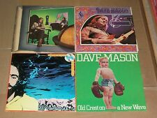 DAVE MASON lot 4x LP let it flow ITS LIKE YOU NEVER LEFT headkeeper OLD CREST