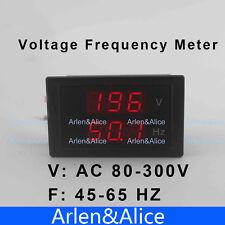 LED dual display Voltage frequency meter voltmeter range AC 80-300V 45.0-65.0 Hz