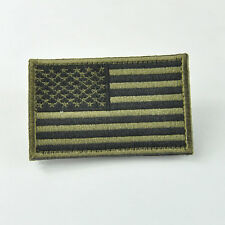 USA US American Flag Velcro Embroidered Patch Tactical Moral Military Army Green
