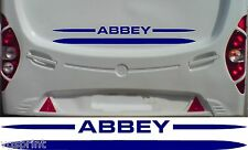 ABBEY CARAVAN/MOTORHOME 2 PIECE KIT DECALS STICKERS CHOICE OF COLOURS & SIZES #4