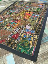 ��Stunning Indian Embroidery Black Multi Colour Wall Hanging 104cm x 154cm WH002