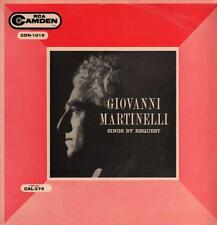 Giovanni Martinelli(Vinyl LP)Sings By request-RCA-CDN 1016-UK-1959-VG/Ex