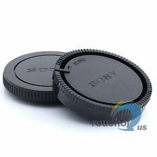 Body Cover + Rear Lens Cap For Sony Alpha A330 A350 A380 A390 A55 A550 A500 A450
