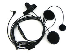 Motorcycle Helmet Headset for Motorola 2-Way Radio T5428 T5500 T6200 T7800 1-Pin