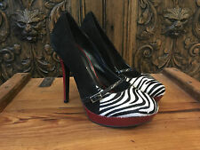 MODA IN PELLE ZEBRA PONY HAIR STILETO PLATFORM HEELS EU 40 UK 7 COST £140