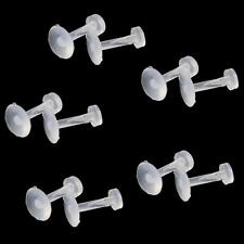 10 Pcs body piercing Hidden Clear Lip/Eyebrow/Nose Retainer Stud Bar Ring