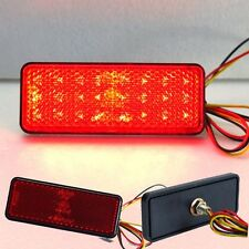 STROBE Red LED rectangle Reflector tail brake light motorcycle third stop lamp