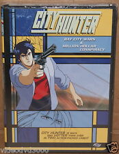 CITY HUNTER: BAY CITY WARS/MILLION DOLLAR CONSPIRACY ANIME COLLECTION (DVD,2003)
