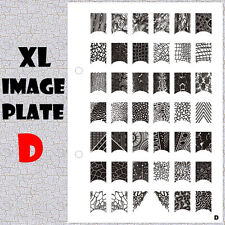 XL Image Plate D for Stamping Nail Art Design Transfer Stencils