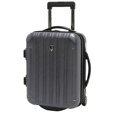 """Traveler's Choice 18"""" Gray Luxembourg Carry-on Overnighter Luggage Suitcase Bag"""