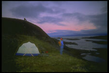 233029 Camping Iqaluit Northwest Territories A4 Photo Print