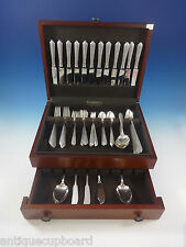 NORMANDIE BY WALLACE STERLING SILVER FLATWARE SET FOR 12 SERVICE 99 PIECES