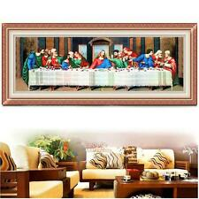 DIY Needlework Handmade 'The Last Supper' Counted Cross Stitch Kits Home Decor