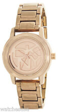 DKNY Womens Rose Gold Dial Rose Gold Stainless Steel Bracelet watch NY8877
