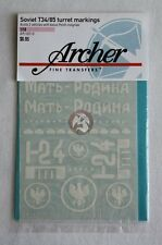 Archer 1/16 T-34/85 Turret Markings Sheet #3 with bonus Polish Insignias AR16010