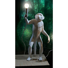 Seletti Monkey Standing Lamp White Resin Modern Light including LED Bulb