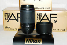MINT Boxed Nikon Zoom-Nikkor AF-G 70-300 Lens with Warranty, For larger DSLRs