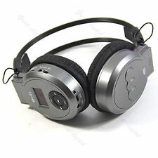 LCD Sport MP3 Player Foldable Wireless Headphone Headset FM Radio TF Card Gray