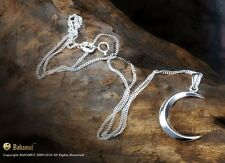 925 Sterling Silver The Vampire Diaries Bonnies Crescent Moon Necklace