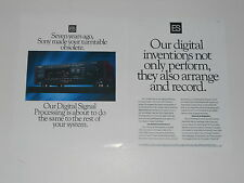 Sony ES Ad, 1990 TA-E1000esd Digital Preamp 2 pages, Article