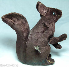 SPLENDID CLOCKWORK RUSSIAN/EAST EUROPEAN SQUIRREL TOY 1950S