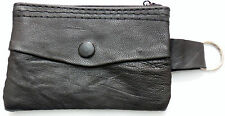 NEW SMALL leather coin wallet or purse with key fob keyring Free UK Delivery