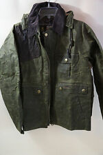 Barbour Ware Waxed Cotton Jacket Size S  RETAIL $375