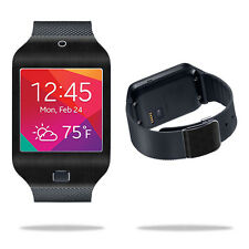 Skin Decal Wrap for Samsung Galaxy Gear 2 Neo Watch Black Leather