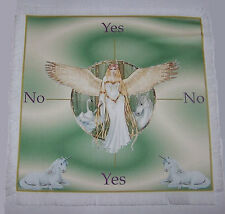 Green Unicorn & Fairy Scrying Mat ideal for use with a pendulum Wicca divination