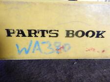 komatsu operation maintenance and parts manual  WA380-3 or WA380-3LE Book