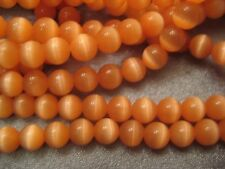 Orange Cat's Eye Round 6mm Beads 68pcs