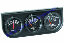 MECHANICAL TRIPLE AUTO CAR ENGINE GAUGE SET WATER OIL PRESSURE TEMP AMPERES AMPS