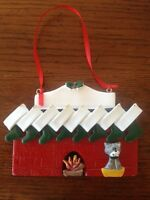 Personalized Fireplace Family of 8 w/ Dog or Cat Christmas Ornament