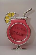 BATH & BODY WORKS PINK COCKTAIL CAR FRESHENER VISOR CLIP SCENTPORTABLE HOLDER