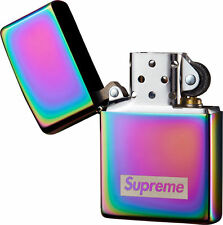 Supreme 16F/W Spectrum Iridescent Zippo Lighter 1000% Authentic Box Logo in Hand
