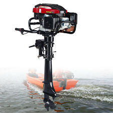 HANGKAI 7HP Outboard Motor Fishing Boat Engine UPDATED w/ 4 Stroke Air Cooling