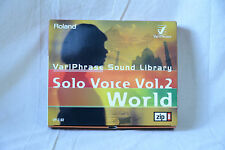 Roland VariPhrase Sound Library Solo Voice Vol.2 (World) VP-Z-02 w/ box