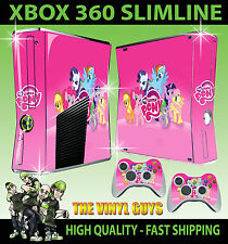 XBOX 360 SLIM STICKER MY LITTLE PONY RAINBOW TWILIGHT SKIN & 2 PAD SKINS