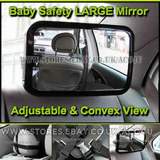 Car Adjustable Rear View Back Seat Headrest Mount Large Child Baby Safety Mirror