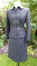 Vintage 1950's Grey Wool Ladies Suit NAT. RECOVERY BOARD Uniform Goodwood Small