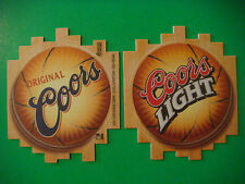 2 Beer Coasters ~ 2001 COORS Brewing Company Light ~ Golden, COLORADO Basketball
