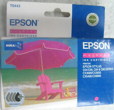 Epson T0443 magenta encre hi-capacity cartouche genuine new C64, CX3600, CX3650.Etc.