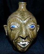 Clint Alderman 2007 Georgia Folk Art Pottery Face Jug