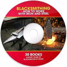 Learn Blacksmith Anvil Forge Steel Iron Welding Blacksmithing PDF books on CD