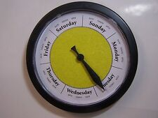 Day of the Week Clock Sandsponge Yellow with Black frame- What Day is it?